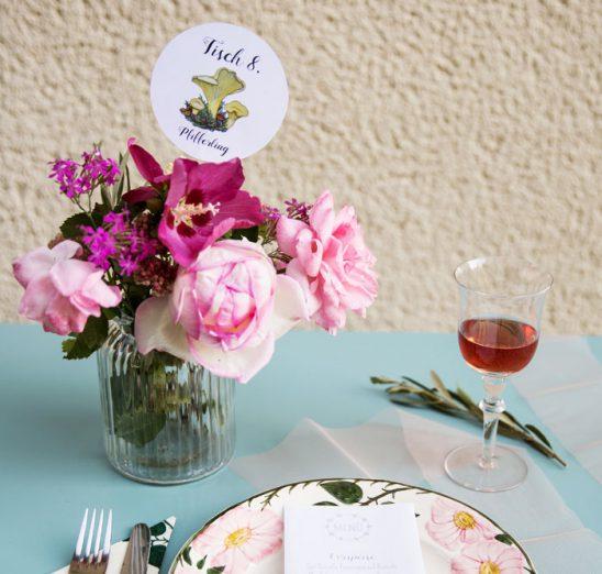 Tischdekoration von Sarah Kleindienst