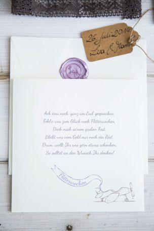 Hochzeitseinladung von SARAS