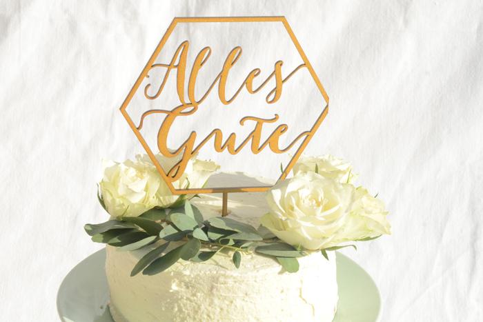 """Cake Topper - """"Alles Gute"""""""